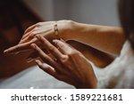 Beautiful Elegant Bride Puts A...