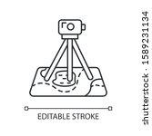 field survey linear icon.... | Shutterstock .eps vector #1589231134