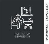 postpartum depression chalk... | Shutterstock .eps vector #1589231164