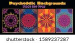 ornament mandala psychedelic... | Shutterstock .eps vector #1589237287