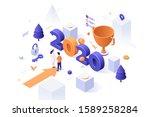 infographic banner template...   Shutterstock .eps vector #1589258284