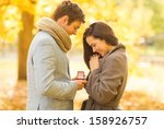 holidays  love  couple ... | Shutterstock . vector #158926757