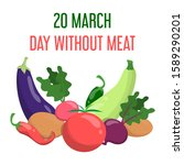 international day without meat...   Shutterstock .eps vector #1589290201