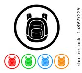 school backpack icon with color ... | Shutterstock .eps vector #158929229