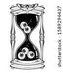 hourglass with eyeballs... | Shutterstock .eps vector #1589294437