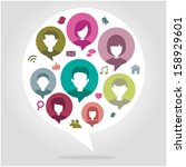 people chatting network concept | Shutterstock .eps vector #158929601