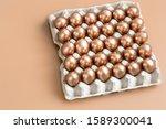 background with golden easter...   Shutterstock . vector #1589300041