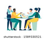 vector illustration  workers... | Shutterstock .eps vector #1589330521