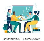 vector illustration  workers... | Shutterstock .eps vector #1589330524