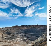 close up of copper mine open... | Shutterstock . vector #158933999