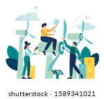 Vector Illustration Of An...