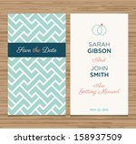 wedding card invitation... | Shutterstock .eps vector #158937509