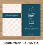 wedding card invitation... | Shutterstock .eps vector #158937515