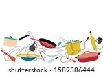 background with utensils.... | Shutterstock .eps vector #1589386444
