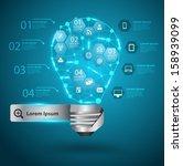 creative light bulb with... | Shutterstock .eps vector #158939099