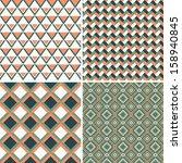 geometric seamless patterns set.... | Shutterstock .eps vector #158940845