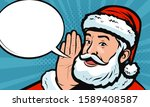santa claus says in style retro ... | Shutterstock .eps vector #1589408587