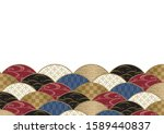 japanese chic color wave... | Shutterstock .eps vector #1589440837