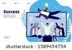 successful team. businessmen... | Shutterstock .eps vector #1589454754