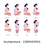 breastfeeding. breast feed...   Shutterstock .eps vector #1589454901