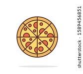 simple pizza icon design for...