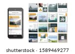 social media pack. business... | Shutterstock .eps vector #1589469277