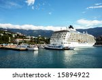 Large Cruise Liner Berthed In...