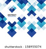 square blue geometrical... | Shutterstock .eps vector #158955074