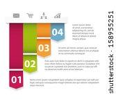 modern design infographics... | Shutterstock .eps vector #158955251