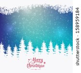 merry christmas colorful winter ... | Shutterstock .eps vector #158959184