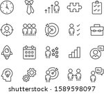 set of work icons  people ... | Shutterstock .eps vector #1589598097