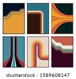 color lines background set... | Shutterstock .eps vector #1589608147