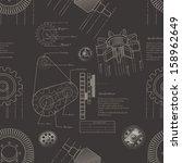 gears seamless pattern | Shutterstock .eps vector #158962649