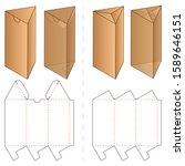 triangle box packaging die cut... | Shutterstock .eps vector #1589646151