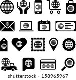 conceptual world icons | Shutterstock .eps vector #158965967
