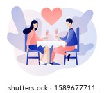 loving couple spending time or... | Shutterstock .eps vector #1589677711