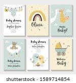 baby shower invitation birthday ... | Shutterstock .eps vector #1589714854
