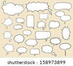 set of hand drawn speech... | Shutterstock .eps vector #158973899