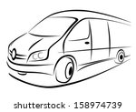 design of a white van in strong