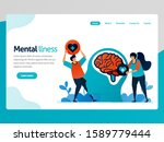illustration of mental illness. ... | Shutterstock .eps vector #1589779444