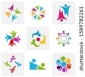 set of community logo design... | Shutterstock .eps vector #1589782261