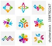 set of community logo design... | Shutterstock .eps vector #1589782267