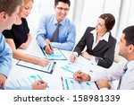 business people working with... | Shutterstock . vector #158981339