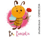 bee romantic  vector | Shutterstock .eps vector #158981534