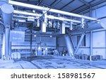 funicular engine room  | Shutterstock . vector #158981567