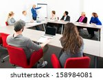several businesspeople meeting... | Shutterstock . vector #158984081