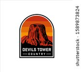 wyoming devils tower national... | Shutterstock .eps vector #1589873824
