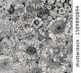 seamless floral pattern. autumn ... | Shutterstock .eps vector #1589890894