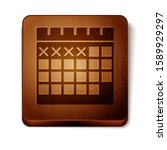 brown calendar icon isolated on ...