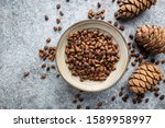 Cedar Or Pine Nuts In A Bowl...